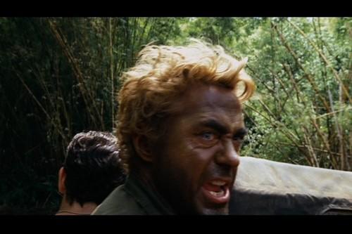 Robert Downey Jr karatasi la kupamba ukuta titled Robert in 'Tropic Thunder'