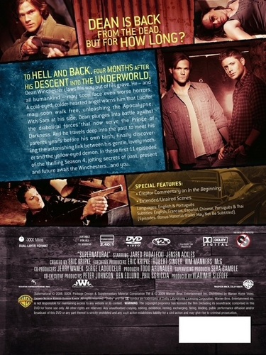 Season 4 on DVD (Part One) - Back Cover Revealed