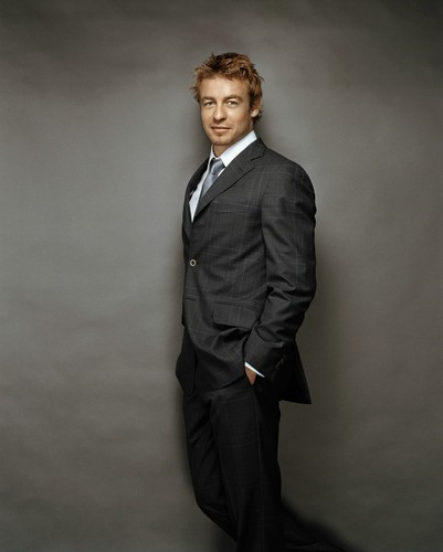 Simon Baker karatasi la kupamba ukuta with a business suit, a suit, and a two piece entitled Simon Baker