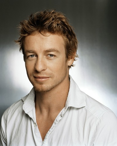 साइमन बेकर वॉलपेपर with a portrait titled Simon Baker