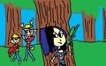 TDI fanfiction:paint ball deer hunter JG, Calvin, and Clay - total-drama-island fan art
