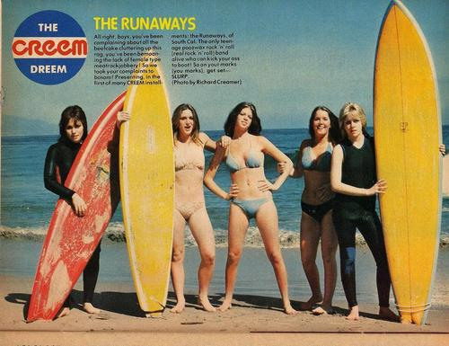 Les Runaways fond d'écran called The Runaways in Creem