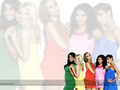 The Saturdays kertas-kertas dinding