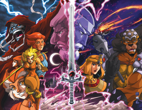 Thundercats 壁紙 containing アニメ entitled Thundercats Hero's and Villians