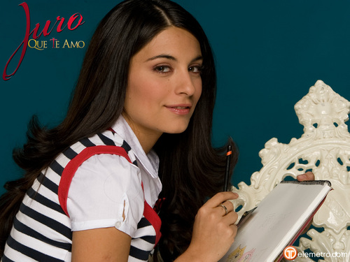 TELENOVELAS wallpaper containing a cleaver titled Violeta - Juro que te amo