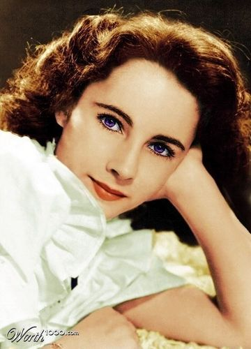 Young Liz Taylor (Colorized)