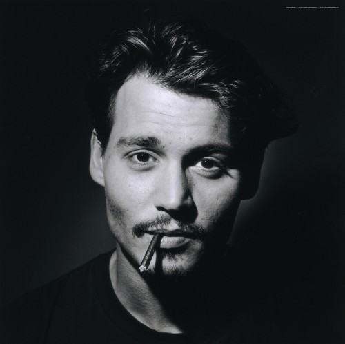 johnny depp black and white