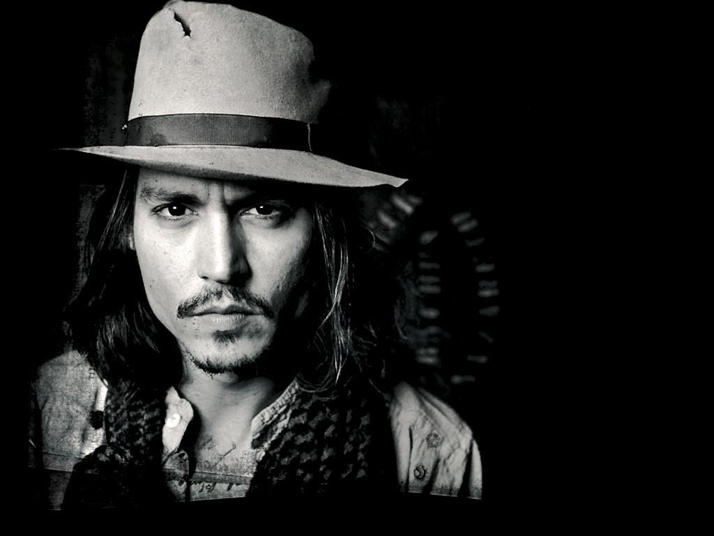 Johnny depp black and white