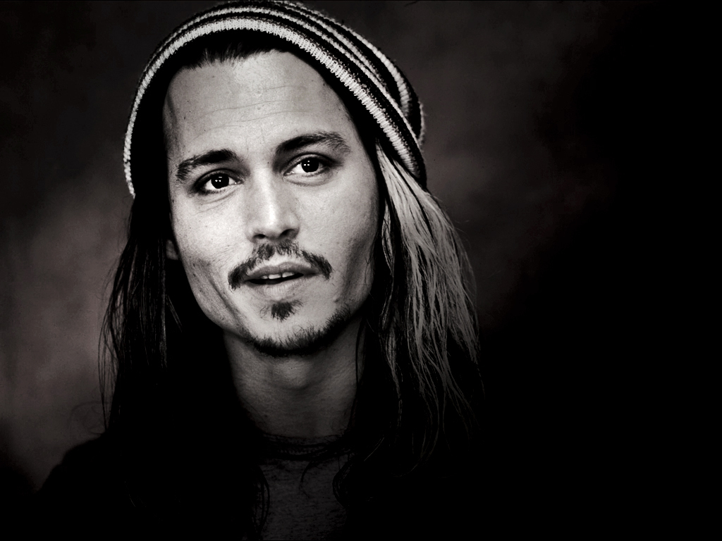 Black And White Photography Johnny Depp