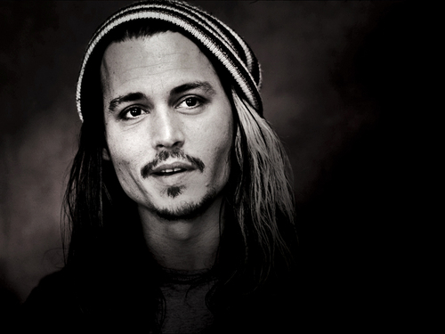 Johnny depp wallpaper possibly with a portrait titled johnny depp black and white