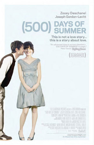 500 Days of Summer wallpaper probably with a sign, a playsuit, and a portrait called 500 Days of Summer Poster