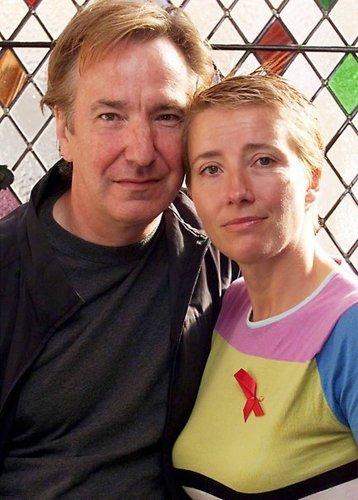 Alan Rickman & Emma Thomson- Snape & Trelawney