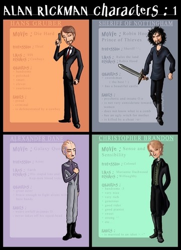 Alan Rickman characters