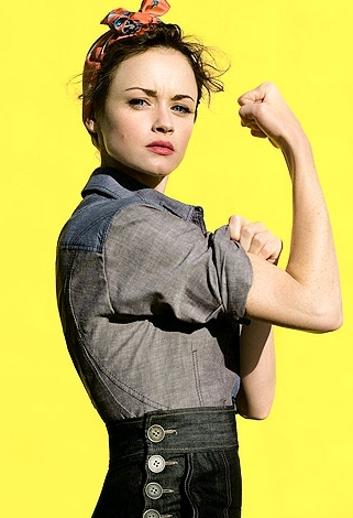 Alexis Bledel Images As Rosie The Riveter Wallpaper And Background Photos