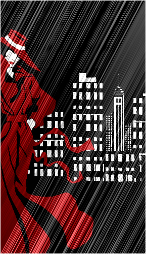 Carmen & City Skyline Cutout