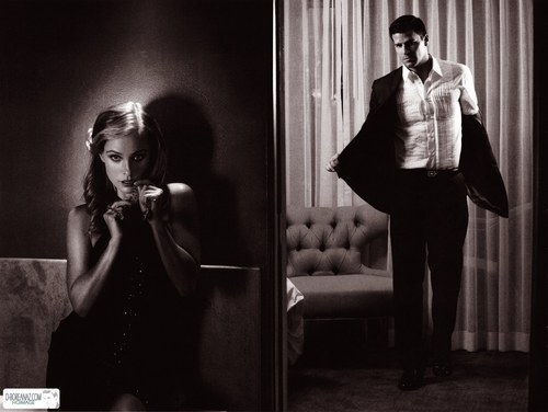 David Boreanaz and Jamie Bergman in the Jan/Feb '08 issue of Statement Magazine