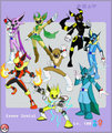 Eevee friends as in power rangers
