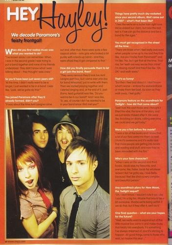 Hayley´s Interview (Mizz Magazine)