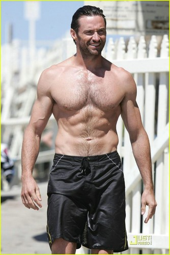 Hugh Jackman wallpaper with a hunk called Hugh's beach body