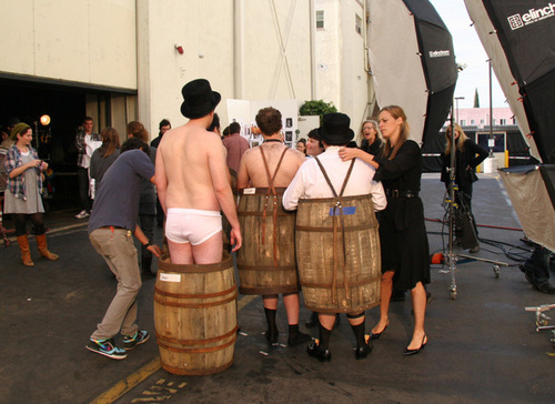Jason Segel wallpaper with a wine cask, a beer barrel, and a keg entitled Jason & Friends in Vanity Fair