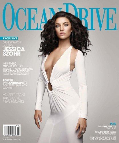 Jess in Ocean Drive Magazine