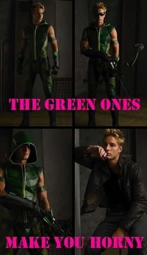 Justin Hartley wallpaper containing a green baret entitled Justin