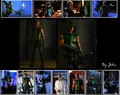 Justin Hartley wallpaper with a green boina entitled Justin