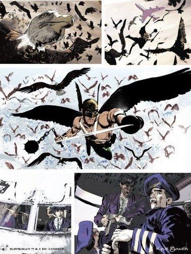 Kyle Barker's art for Hawkman