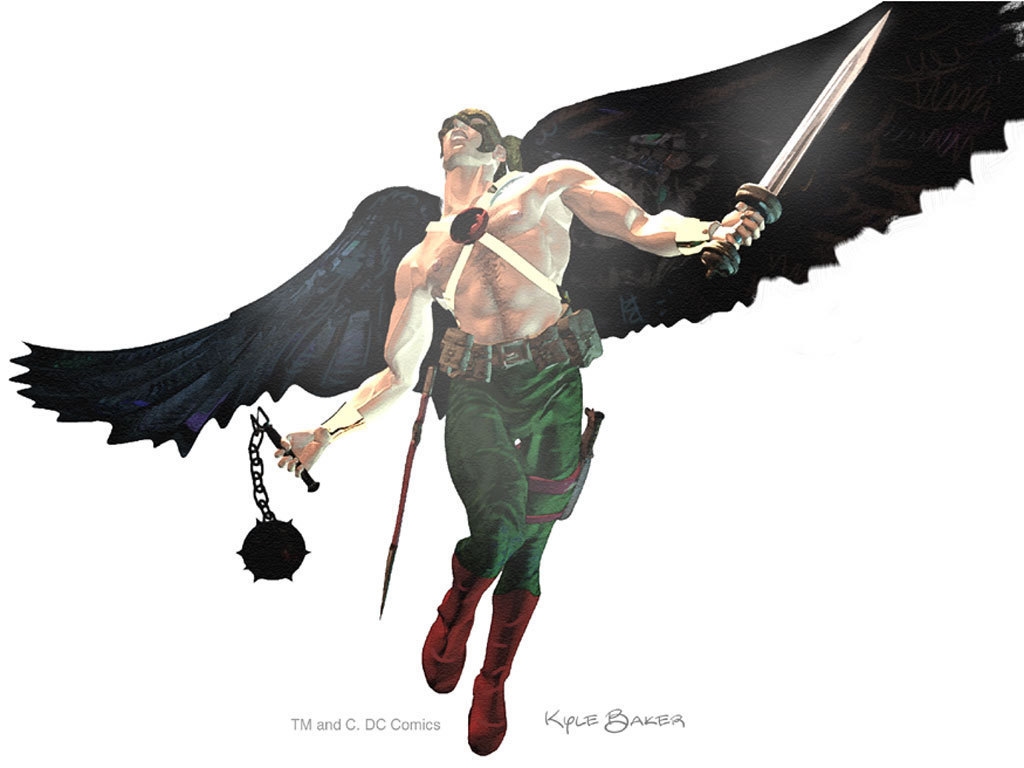 Dc comics kyle barker s art for hawkman