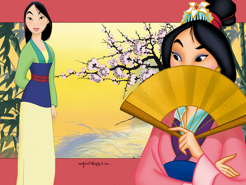 Classic Disney wallpaper probably with a kimono titled Mulan