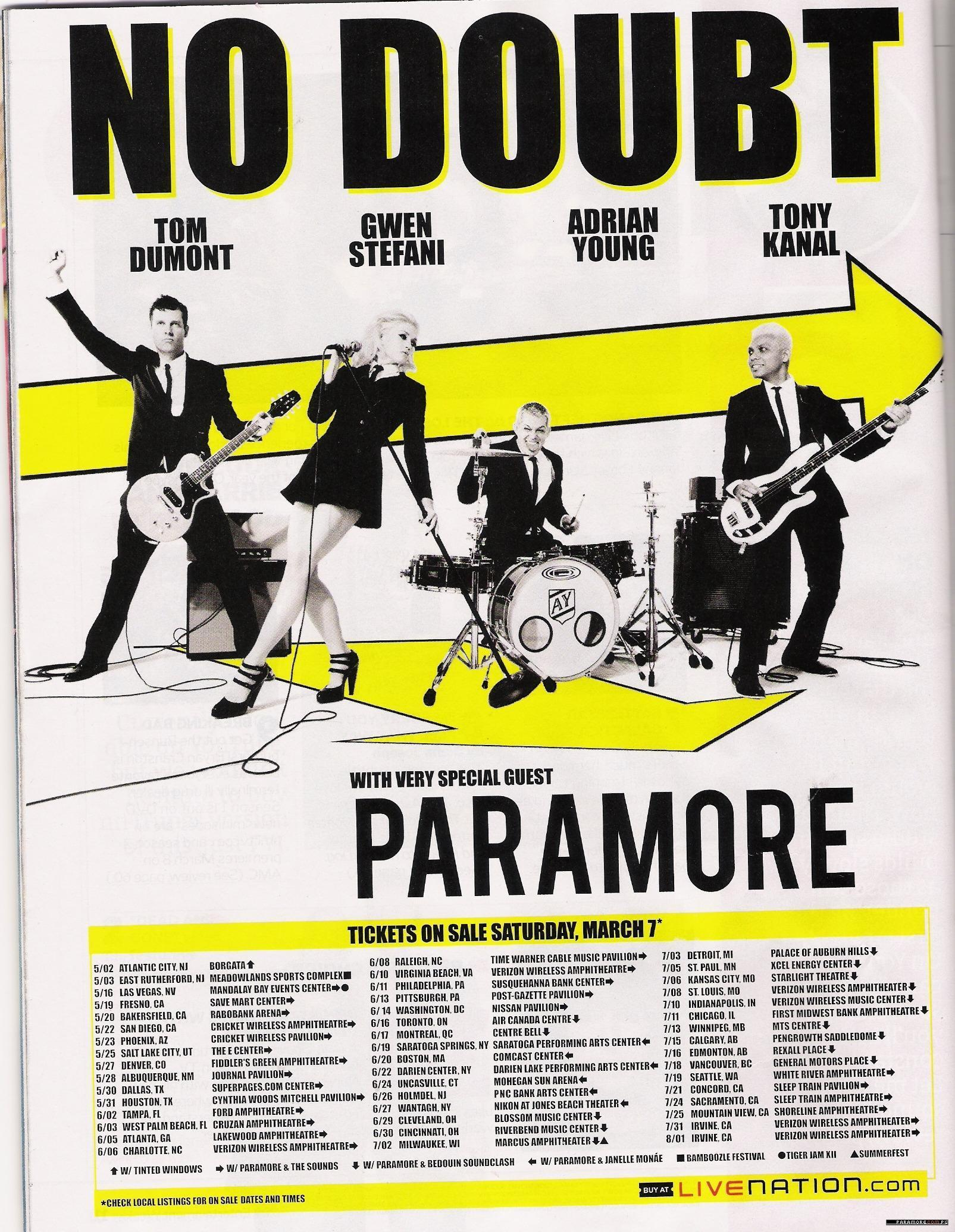 Poster of Tour with No Doubt