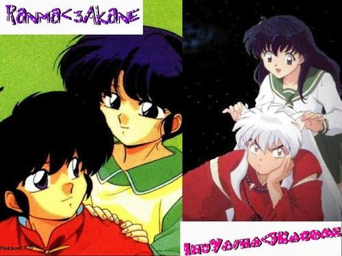 Ranma and InuYasha with Kagome and Akane