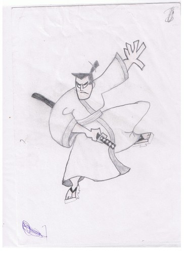 Samurai jack drawing