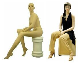 Sitting Female Mannequins