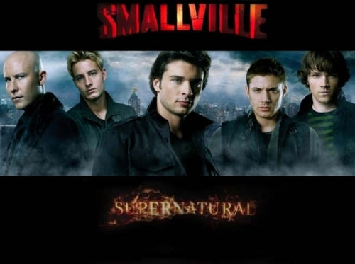 Supernatural wallpaper possibly containing anime called Smallville and Supernatural guys