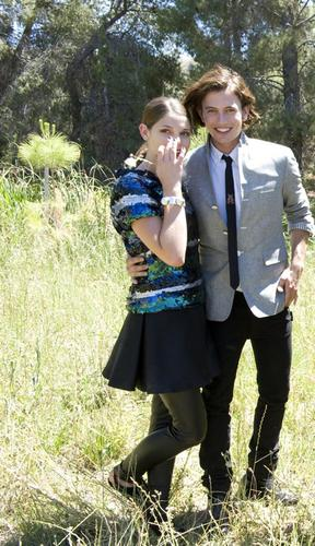Jackson Rathbone & Ashley Greene wallpaper probably containing a hip boot and a tabard entitled Teen Vogue 09 Outtakes
