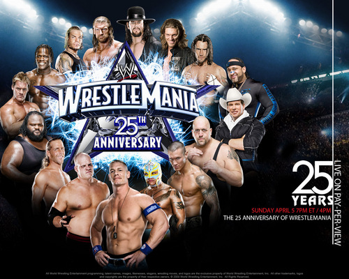 Professional Wrestling hình nền entitled WrestleMania XXV