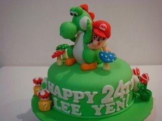 Yoshi&Baby Mario cake