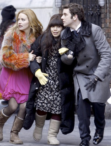ugly betty set photo- 4th march/ 09