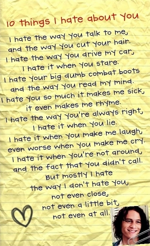 10 things I hate about you poem - 10-things-i-hate-about-you Fan Art
