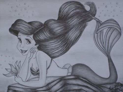 Ariel wallpaper probably containing anime called Ariel drawing!