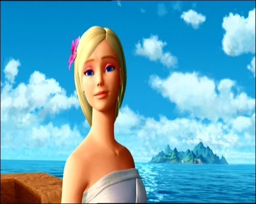 Barbie as the island princess achtergrond probably containing skin and a portrait titled Barbie as the island princess