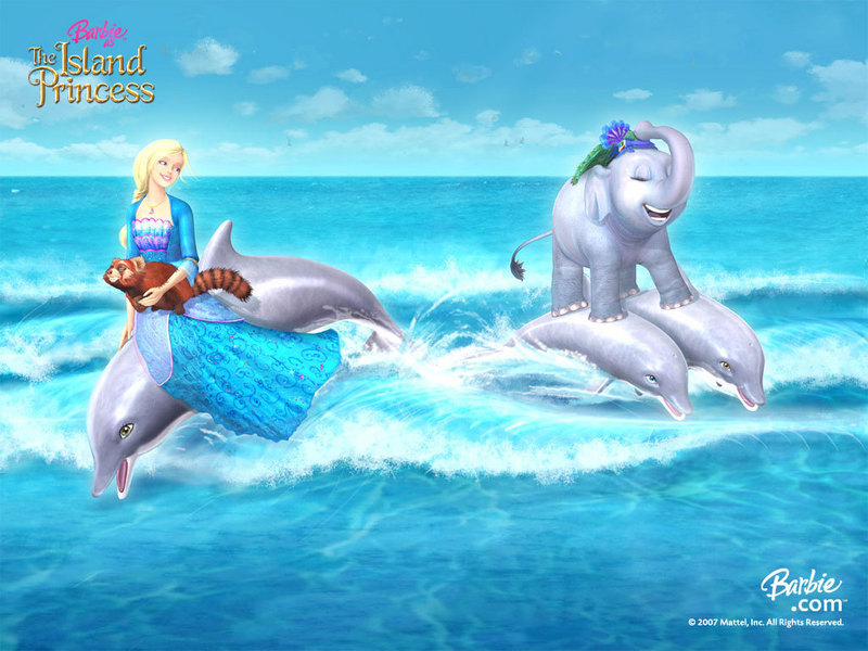wallpaper of barbie princess. Barbie as the island princess