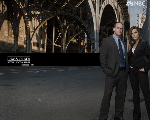 Elliot and Olivia wallpaper with a business suit titled Benson_Stabler