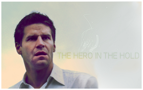 Seeley Booth wallpaper with a portrait entitled Booth in 'The Hero In The Hold'