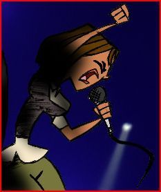 TOTAL DRAMA ISLAND'S Courtney! wallpaper containing anime called Courtney singing in the band