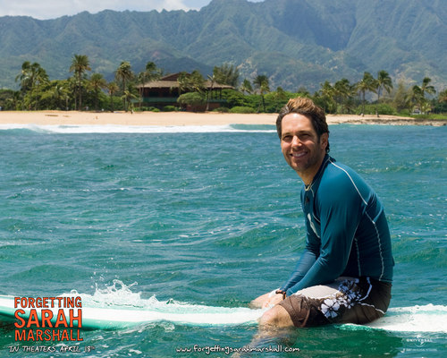Paul Rudd wallpaper possibly with a bagnante entitled Paul in Forgetting Sarah Marshall