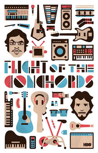 Flight of the Conchords achtergrond probably containing anime called FotC Poster Contest Winner