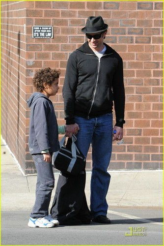 Hugh with his son in NYC