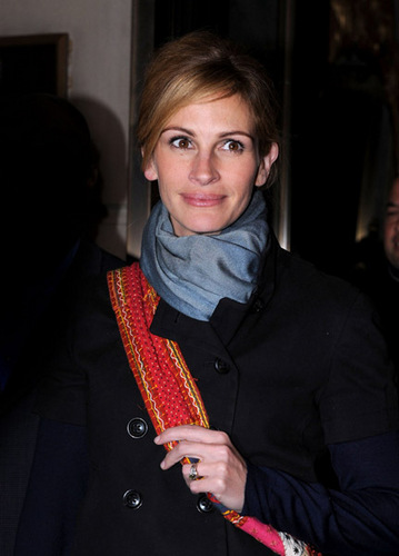 Julia Roberts seen leaving the Ritz-Carlton on March 7, 2009 in New York City.